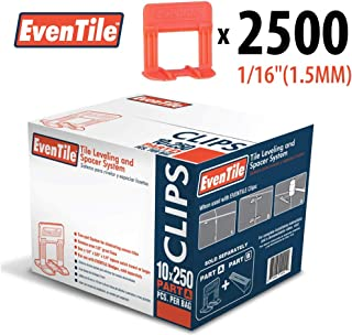 Eventile Tile Leveling System Clips Spacers Clips (2500, 1/16