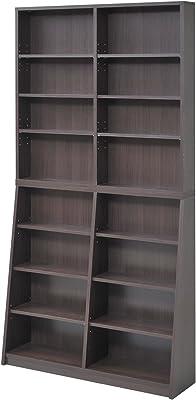 JKプラン MORION 文庫本 収納出来る本棚 ラック 幅90cm ダークブラウン fr-009-db