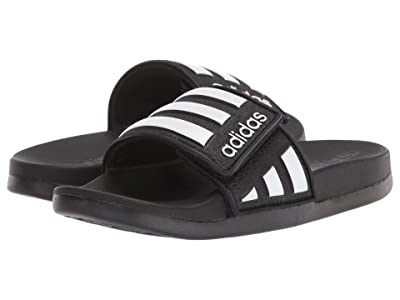 adidas Kids Adilette Comfort ADJ (Toddler/Little Kid/Big Kid) (Black/White) Kid