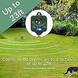2 x PestBye Katzenvertreiber, Batteriebetrieben – Wetterfest – Ultraschall Katzen Vertreiber / Katzenschreck - 3