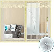 ALSGON Zelfklevend venster scherm Netting Mesh Gordijn, Mesh Onzichtbare Mesh Gordijnen Volledige Frame Magic Sticker Houd...