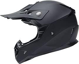 Motorcycle Motocross ATV Helmet DOT Approved - YEMA YM-915 Motorbike Moped Full Face Off Road Crash Cross Downhill DH Four Wheeler MX Quad Dirt Bike Helmet for Adult Men Women - Matte Black,Medium
