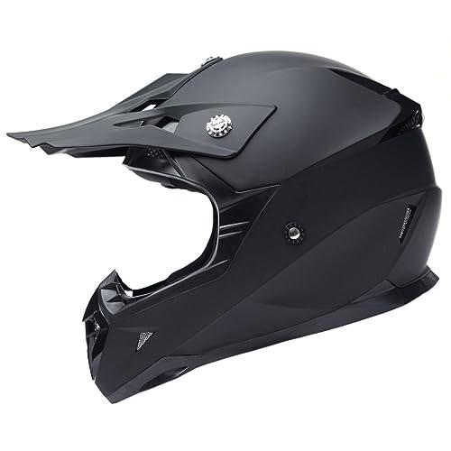 Nero Opaco Panthera Moto Cross FS607 XL Casco moto