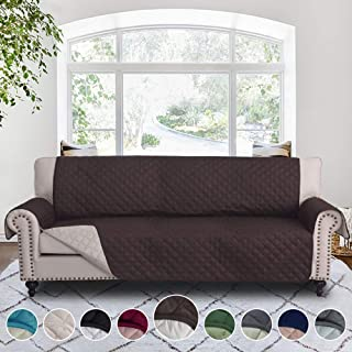 """Best RHF Couch Protectors for Dogs,Reversible Pet Protector Furniture Covers,Sofa Protector Cover,Wide Chair Cover,Couch Covers,Extra Large Sofa Slipcover,Width 78""""(Sofa-Extra Wide:Chocolate/Beige) Review"""