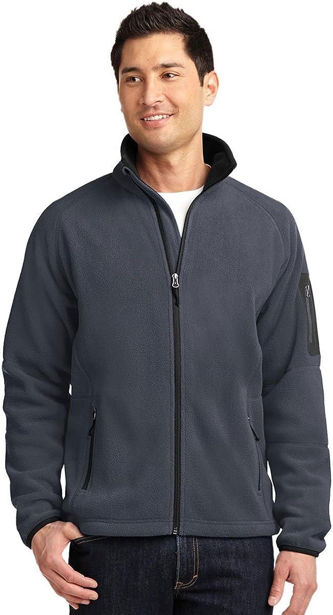 Port Authority Men's Enhanced Value Fleece Full-Zip Jacket_Bat Grey/Black_4XL