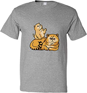 Custom Funny Graphic T Shirts for Men Exotic Shorthair Cat A Cotton Top
