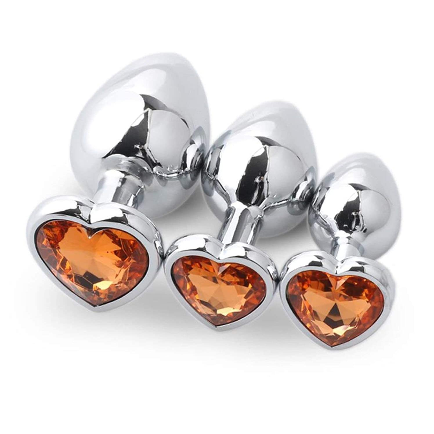Thdvb tShirt Ví-bratórs Women Rabbit 3pcs/Set Metal Anál Beads with Crystal Jewelry Heart Būtt Plug Pr?státê Massager Sexs-Toys for Men Women Anál Plug,Gold,Joystick Ví-bratór