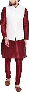Sojanya Men's Dupion Silk Nehru Jacket