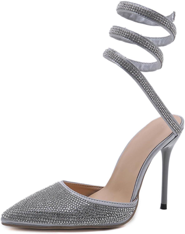 Aneikeh Rhinestone Women High Heels Ladies shoes Fashion Wedding shoes Sexy