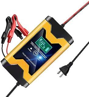 Bilbatteriladdare 12V Smart automatisk batteriladdare Fordonsladdare för bil Motorcykel Gräsklippare Våt AGM Gelcellblybat...