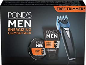 POND'S Men Energy Bright Facewash & Energy Burst Face Gel, 250 g with Free Trimmer Combo
