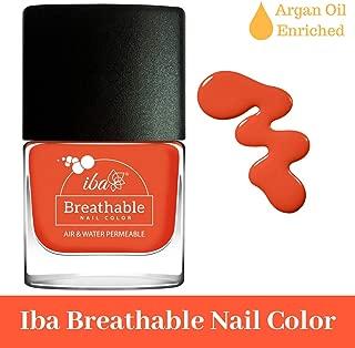Iba Halal Care Breathable Nail Color, B12 Orange Flames, 9ml