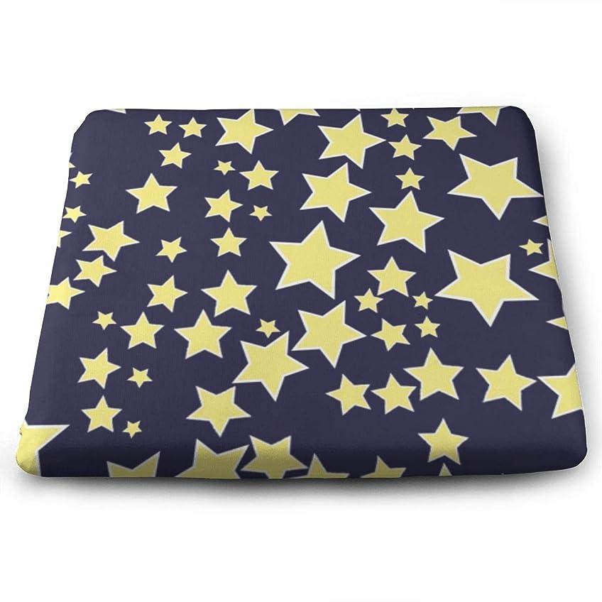 間違っている確認する運営Starry Sky Stars Design TOSHIMURA 座布団 高低反発コンビ クッション イス 椅子用 かわいい おしゃれ スクエア 四角 滑り止め付き 座り心地抜群 オフィス