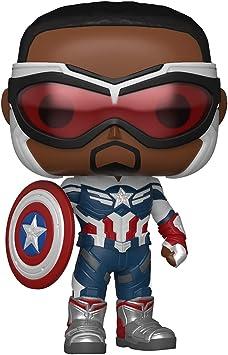 Funko Pop! Marvel: Falcon and The Winter Soldier - Captain America (Sam Wilson) ,3.75 inches