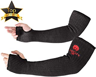 "Kevlar-Sleeves Arm Protection Sleeves with Thumb Hole, MOKEYDOU [18"" Inch Long, 9""-14"" Wide]..."