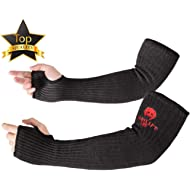 "Kevlar Sleeves Arm Protection Sleeves with Thumb Hole, Easylife [18"" Inch Long, 9""-14"" Wide]..."