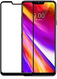 LG G7 ThinQ Screen Protector Glass Film, Full Coverage Case Friendly Real Tempered Glass HD Clear Bubble Free 9H Hardness ...