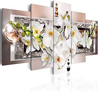 Extra Large Abstract Orchid Flower Canvas Wall Art Floral Print Painting Huge Modern Decor Artwork for Living Room Bedroom Home Decoration