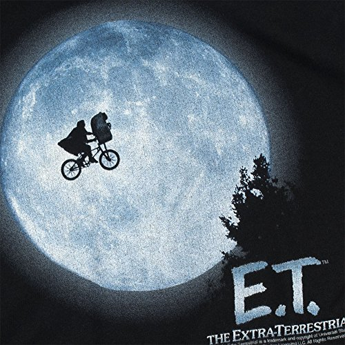 E.T. Flying Bicycle Across The Moon T Shirt & Exclusive Stickers (Medium)