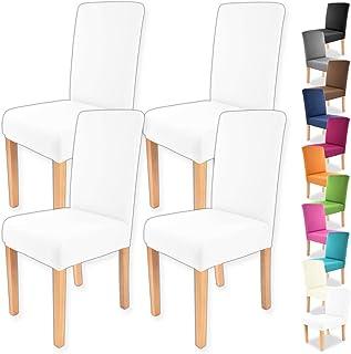 Gräfenstayn 4pcs Fundas para sillas elásticas Charles - respaldos Redondos y angulares - Paquete Benefit - Ajuste bi-elástico con Sello Oeko-Tex Standard 100: