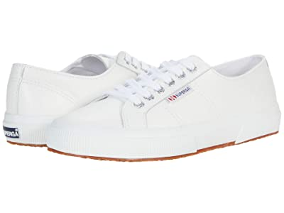 Superga 2750 Nappaleau Sneaker (White Leather) Women