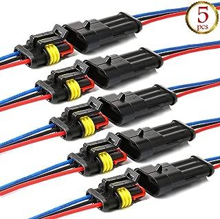 18 AWG Marine TOOHUI 5 juegos 4 Pin Way Car AMP Conector el/éctrico con Conector del cable del cable Mujer Hombre Impermeable Autom/óvil