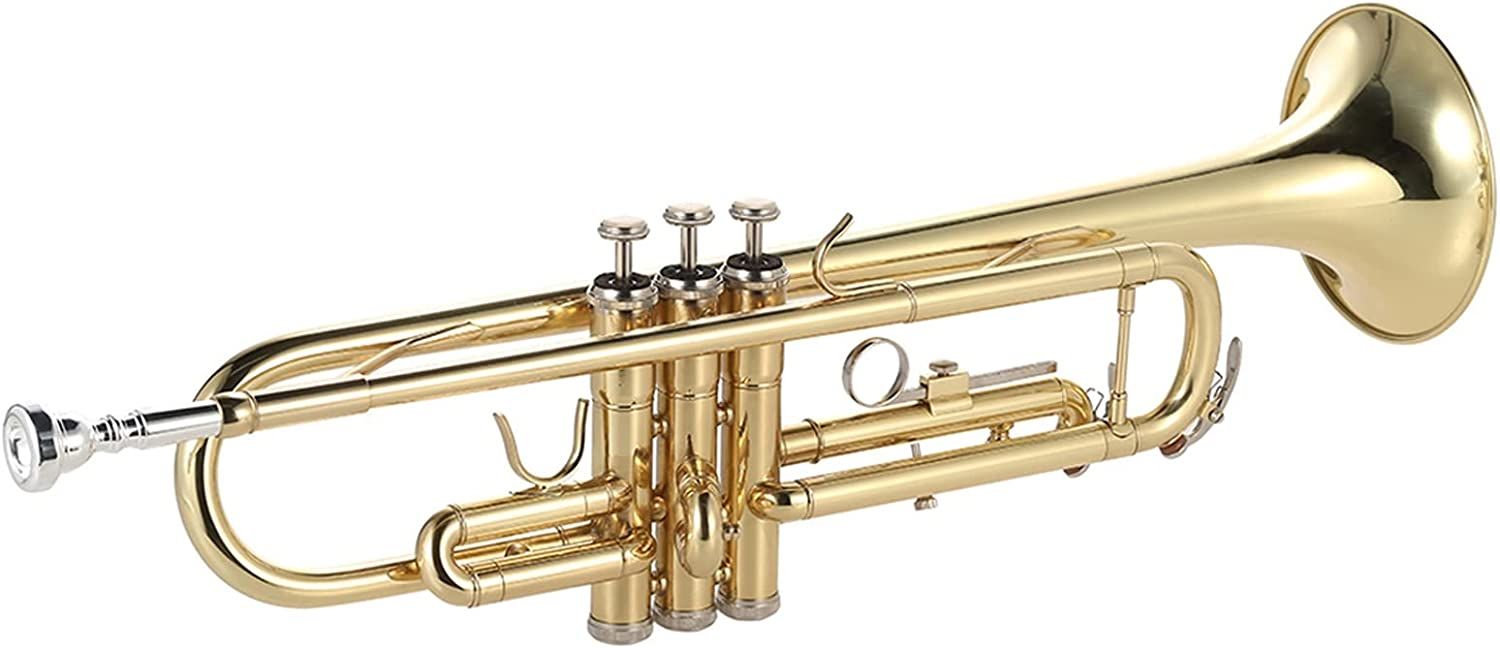 Standard San Francisco Mall Trumpets Trumpet Bb B Flat Exquisite Gold-Painted Quality inspection Brass