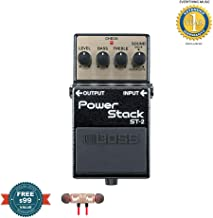 BOSS ST-2 Power Stack Guitar Pedal includes Free Wireless Earbuds - Stereo Bluetooth In-ear and 1 Year Everything Music Extended Warranty