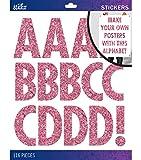 Sticko Alphabet Stickers, Regular X-Large, Black Glitter Futura