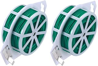 AOMGD 2 Pack 328 Feet (Total 200 m) Twist Tie Multi-Function Garden Plant Wire Ties with Cutter/Cable Tie/Zip Tie/Coated Wire for Gardening, Home, Office