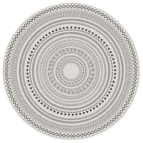 FICI Nordic Decoratief Tapijt Ronde Tapijt Stoel Vloermat Mat Rond Tapijt Home Deurmat accessoires Tapijt, 3, diameter 80cm