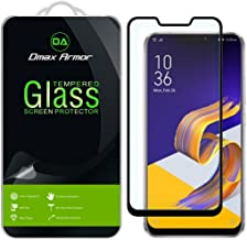 [2-Pack] Dmax Armor for Asus Zenfone 5Z (ZS620KL) [Tempered Glass] Screen Protector, (Full Screen Coverage) (Black)