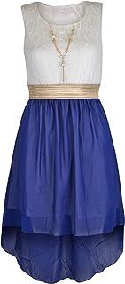 942cf116b630e Robe sans manches asym eacute trique en mousseline de soie avec collier  pour filles - Taille
