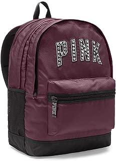Victoria's Secret PINK Campus Backpack College Bag Black Orchid Studs