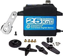 ANNIMOS 25.5kg/0.07s Coreless Digital Servo Motor HV 7.4V Stainless Steel Gear High..