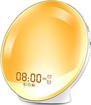 HOKEKI Wake-Up Light, Alarm Clock with 7 Colored Sunrise Simulation and Sunset Fading Night Light & Snooze Feature for Kid...