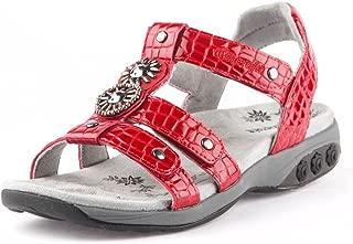 Therafit Charlotte Women's Embossed Jeweled Sandal for Plantar Fasciitis/Foot Pain