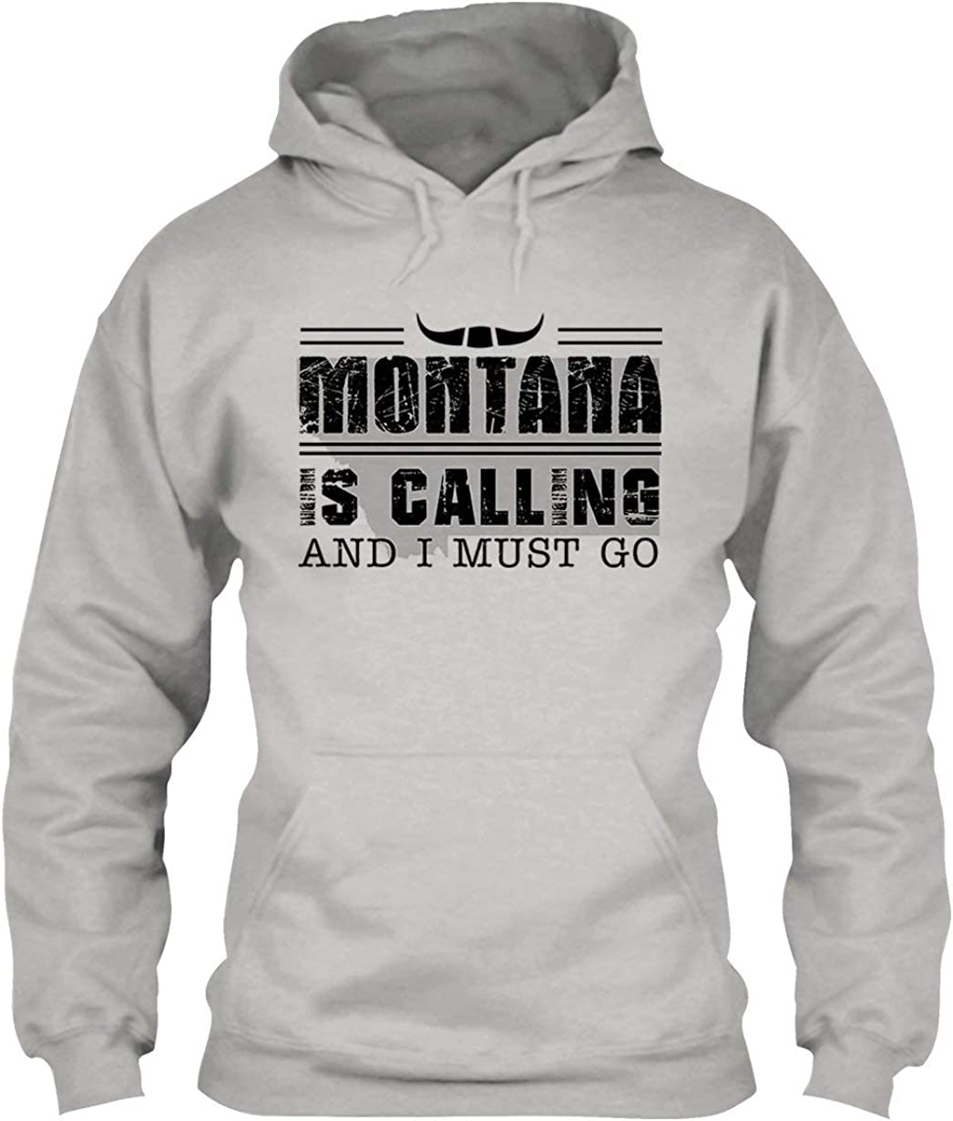 EZARO Montana is Calling and I Hoodie Pullover S Go Max 51% Seattle Mall OFF Must Hooded