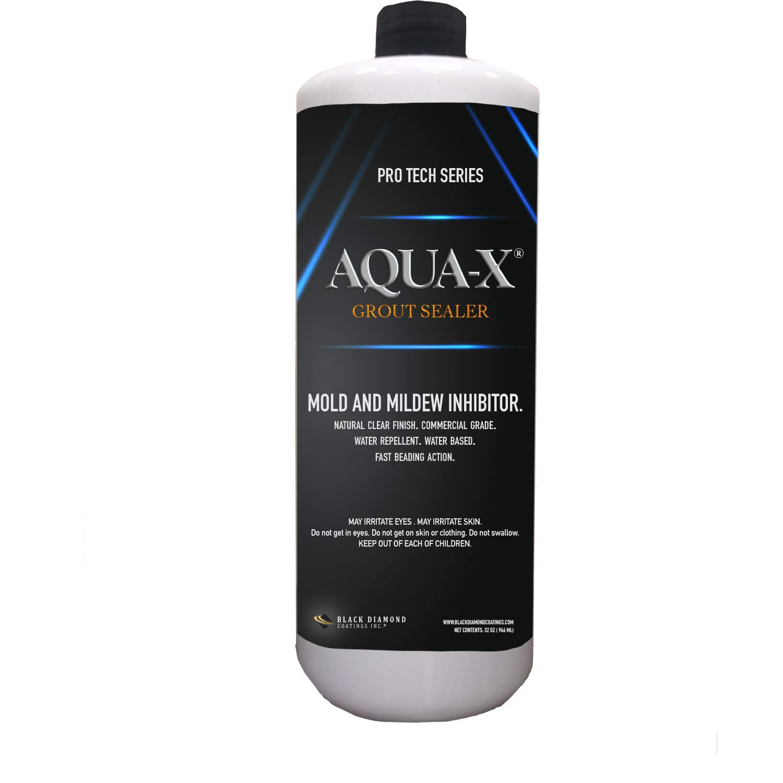 - 1 Quart AQUA-X Grout Sealer, Clear Grout Sealer, Commercial Grade