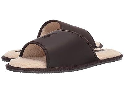 Polo Ralph Lauren Antero Slipper (Brown Leather) Men