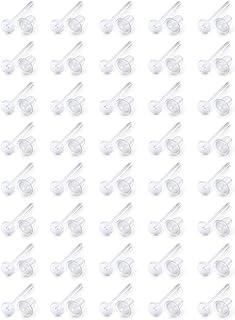 Ftovosyo 40 زوج غير مرئية البلاستيك أقراط أقراط شفافة الأذن ثقب المثبات أقراط شفافة الأذن الفواصل ثقب المجوهرات للرجال الن...