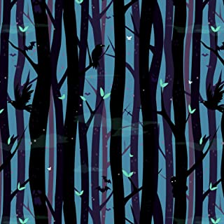 GRAPHICS & MORE Spooky Dark Forest with Crows and Ravens Premium Roll Gift Wrap Wrapping Paper