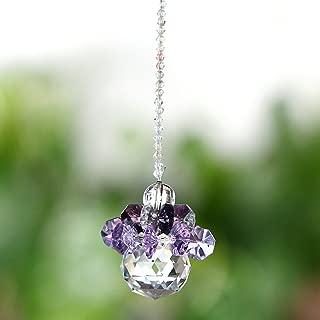 H&D Fengshui Hanging Ornaments Suncatcher Rainbow Maker Car Charm Chandelier Crystals Ball Prisms Parts (purple)