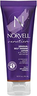 Norvell Venetian Sunless CC Tanning Color Extender Moisturizing Lotion with Violet and Brown Tone Instant Bronzers, 8.5 fl.oz