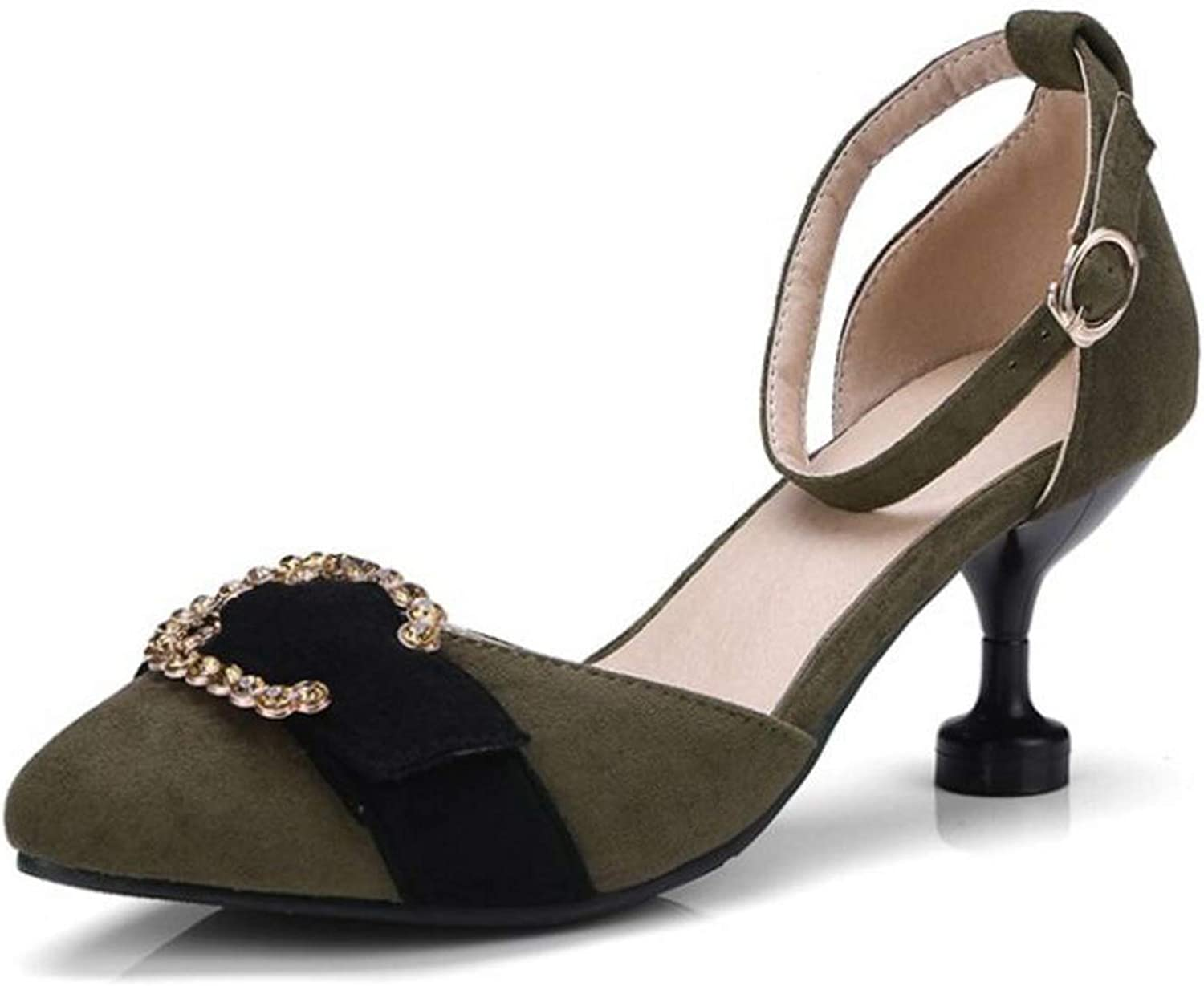 April With You Size 31-46 Elegant Women High Heel Sandals Bowknot Beading Pointed Toe Thin Heel Sandal