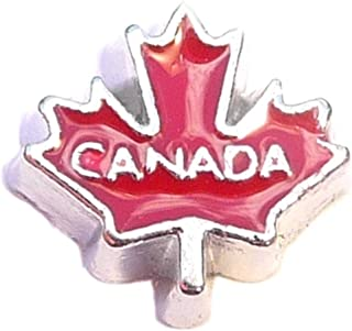 Canada Maple Leaf Floating Locket Charms