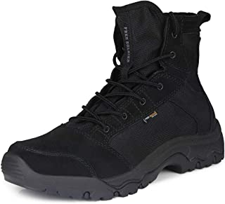FREE SOLDIER Men's Work Boots 6 inch Lightweight Breathable Military Tactical Desert Boots for Hiking (Black 10.5 US)