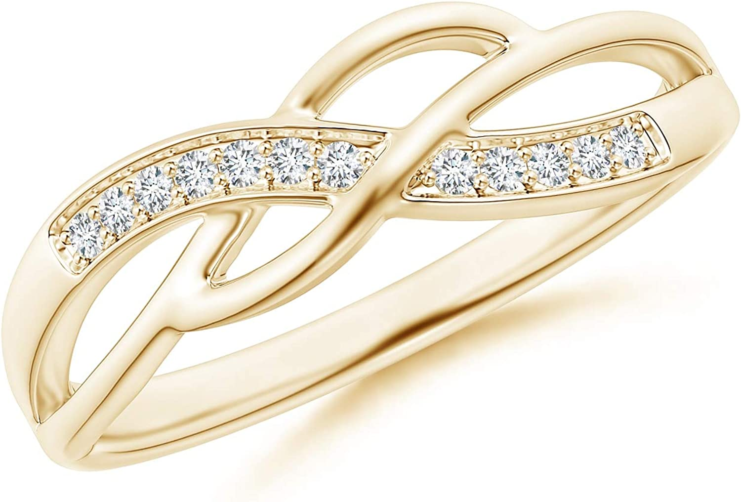 Pave Set Round Diamond Multi-Row Al sold out. Max 80% OFF Crossover in Go 14K Yellow Band