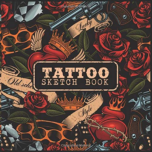 TATTOO Sketch book: A Large Square Sketchbook with Blank Graph Paper and White Paper - 100 Pages ( 8.5' x 8.5' ) for Drawing, Sketching, and Recording Creative Ideas.