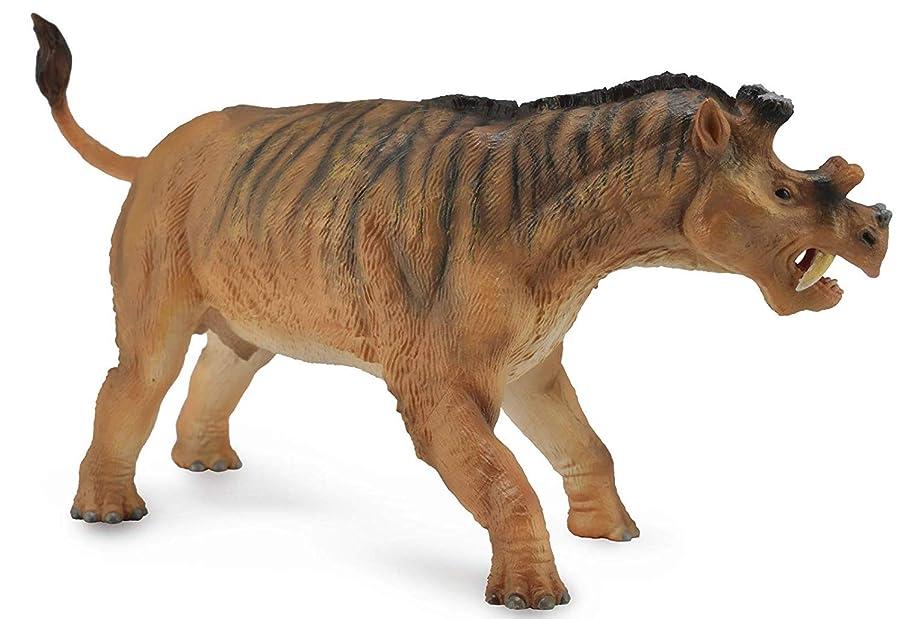 Collecta Prehistoric Life Uintatherium Deluxe (1:20 Scale) Vinyl Toy Dinosaur Figure